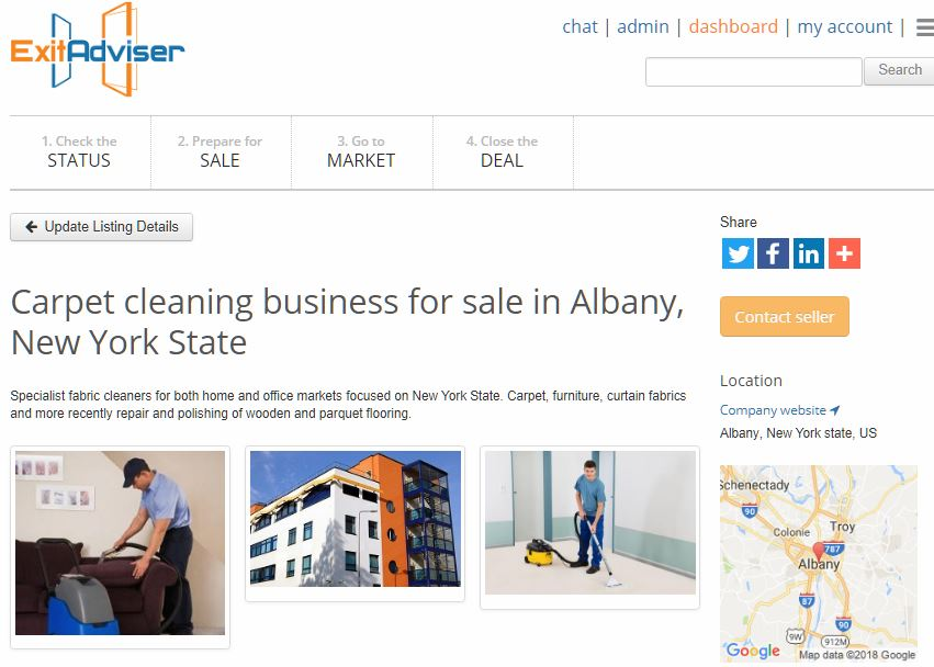 A business-for-sale listing