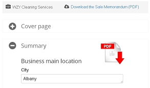 Sales memorandum tool - screenshot