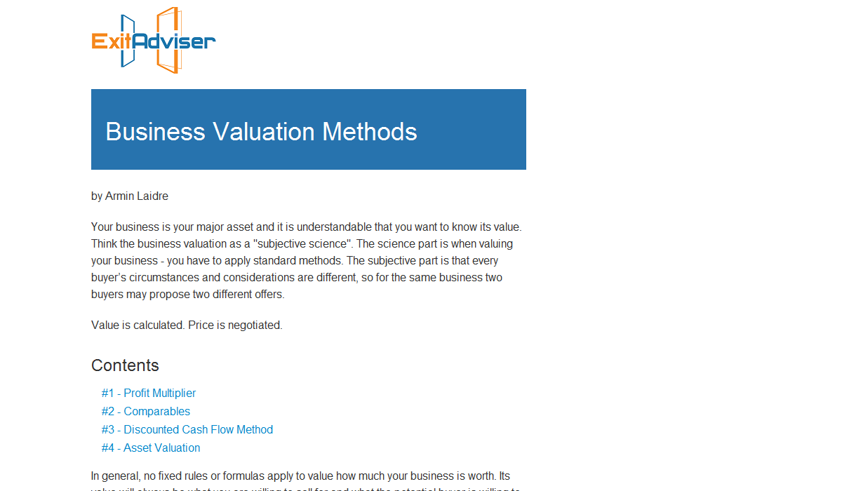 Top 4 Business Valuation Methods with Examples