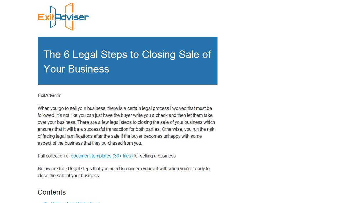 The 6 Legal Steps to Selling a Business