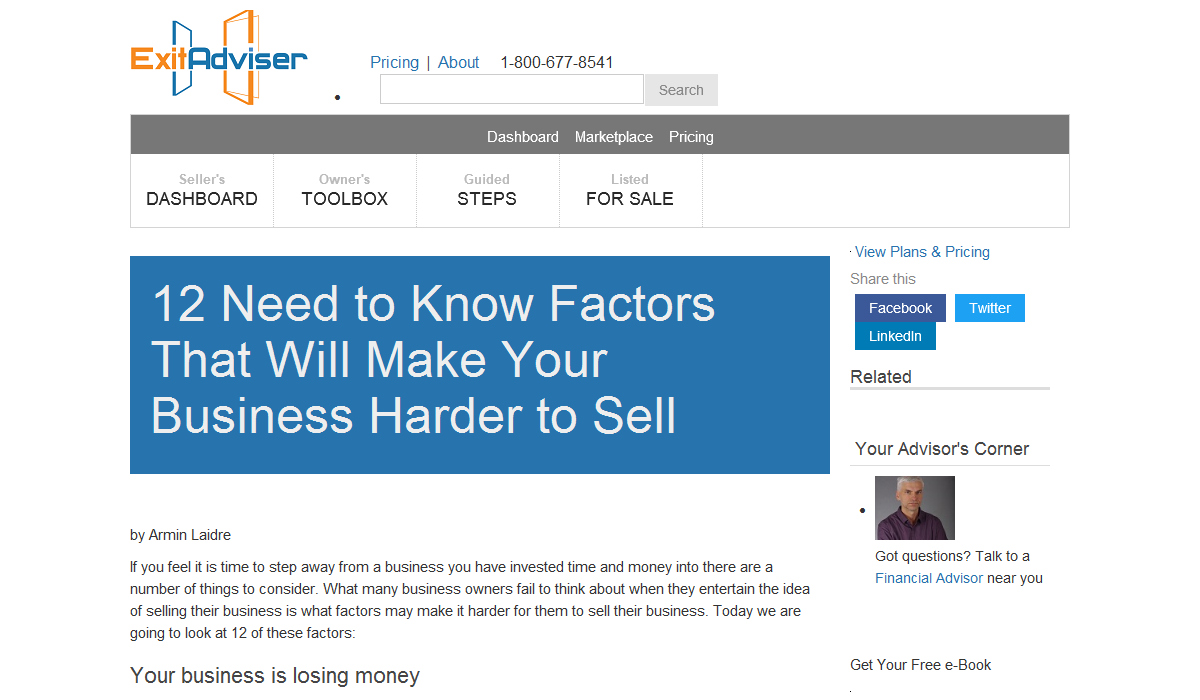 The 12 Factors That Will Make Your Business Hard to Sell